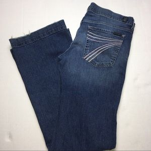 7 FOR ALL MANKIND Dojo Flare Jeans Size 31 X 34